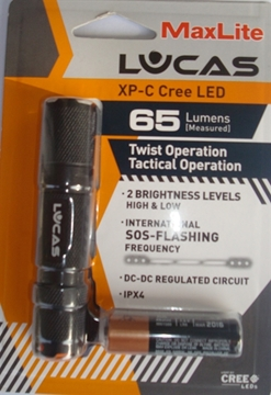 Εικόνα της Φακός Led Maxlite XP-C Cree Led Lucas - 65 Lumens