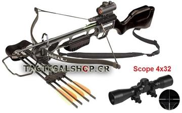 Εικόνα της Βαλλίστρα Jaguar Crossbow Βlack με Σκοπευτικό 4Χ32 150 lbs