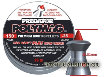 Εικόνα της Predator Polymag JSB hollow point 6.35mm