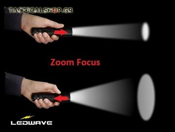 Εικόνα της Φακός led με Zoom Focus Ledwave MK-30 250 lumens