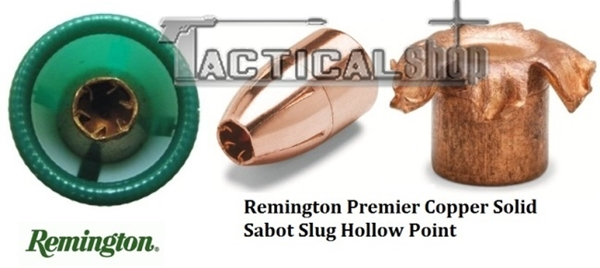 Picture of Μονόβολα 12/70 φυσίγγια Hollow Point Remington Premier Copper Solid Sabot Slug