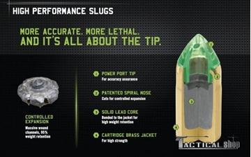 Εικόνα της Μονόβολο φυσίγγι 12/76 Remington Premier AccuTip Bonded Slug