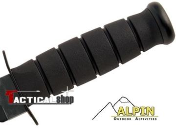 Εικόνα της Alpin μαχαίρι τύπου Kabar μαύρη λαβή