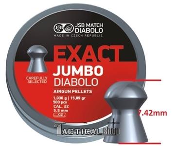 Εικόνα της JSB Exact Jumbo μολυβένια βλήματα αεροβόλου 5.52mm