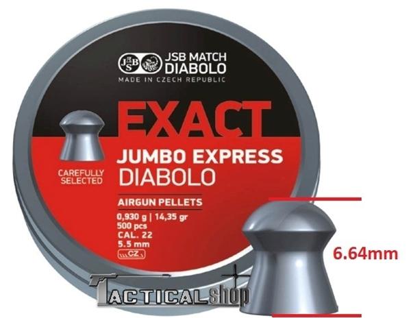 Picture of JSB Jumbo Express μολυβένια βλήματα αεροβόλου 5.52mm