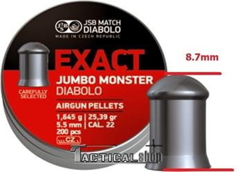 Εικόνα της JSB Jumbo Monster μολυβένια βλήματα αεροβόλου 5.52mm
