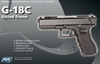 Picture of Airsoft ASG Glock G18C full auto Blowback Gas 6mm