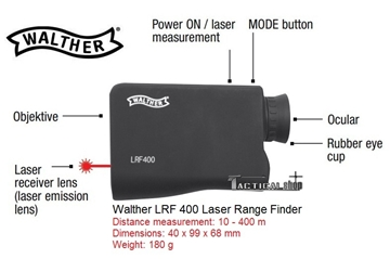 Εικόνα της Αποστασιόμετρο Walther LRF 400 Laser Range Finder