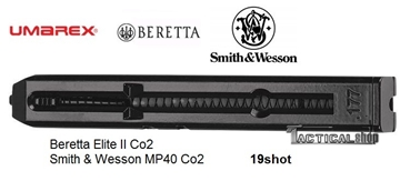 Εικόνα της Γεμιστήρας για αεροβόλα πιστόλια αμπούλας CO2 Beretta, Smith & Wesson
