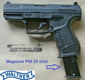 Εικόνα της Γεμιστήρας μεγάλος 20 round για Walther P99 Navy 9mm