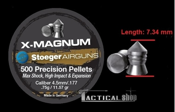 Εικόνα της Βληματάκι για αεροβόλα Stoeger Air Pellets X-Magnum 4,5 mm