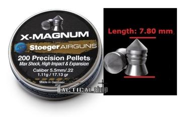 Εικόνα της Βληματάκι για αεροβόλα Stoeger Air Pellets X-Magnum 5,5 mm