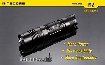 Εικόνα της Φακός Tactical Led Nitecore Precise P12 1000 Lumens!!!