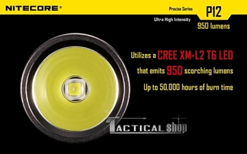 Εικόνα της Φακός Tactical Led Nitecore Precise P12 1000 Lumens!!!