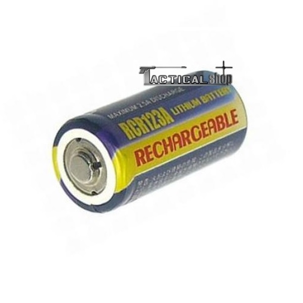 Picture of Επαναφορτιζόμενη μπαταρία CR123A Lithium battery 3V 500mah