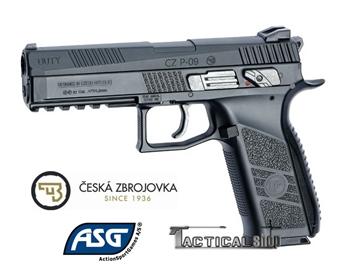 Εικόνα της Αεροβόλο πιστόλι αμπούλας ASG CZP-09 Duty 4.5mm Blowback