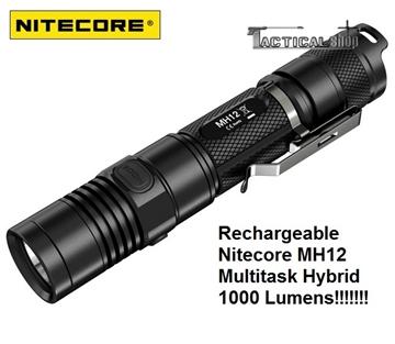 Εικόνα της Επαναφορτιζόμενος φακός Led Nitecore MH12 1000 Lumens Multi task Hybrid