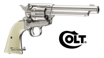 Εικόνα της Αεροβόλο περίστροφο αμπούλας Colt Single Action Army 45 Nickel