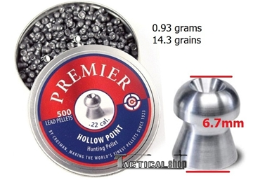 Εικόνα της Diabolo Premier Crosman Hollow Point .22 5.5mm