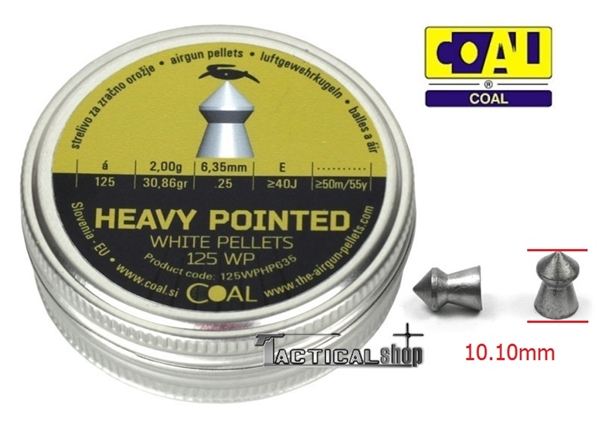 Picture of Βολίδες για αεροβόλα Goal Heavy Pointed 6.35 mm