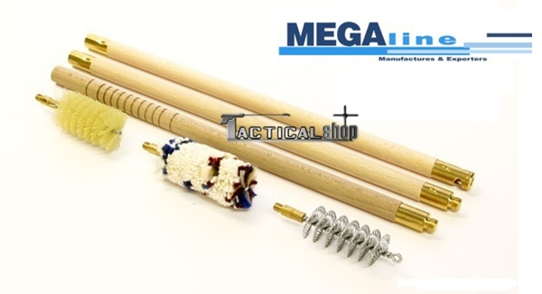 Picture of Megaline οικονομικό σετ καθαρισμού με ξύλινες βέργες Cal.12