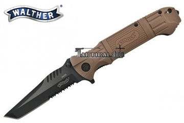 Εικόνα της Σουγιάς Walther Black Tac Tanto Knife Sand