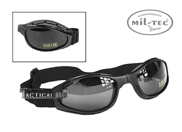 Εικόνα της Γυαλιά ασφαλείας Μαύρα Mil-Tec Foldable Sport Goggles