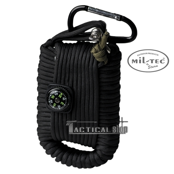 Picture of Κιτ επιβίωσης Mil-Tec paracord Survival Kit μαύρο
