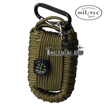 Εικόνα της Κιτ επιβίωσης Mil-Tec paracord Survival Kit Χακί