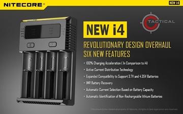 Εικόνα της Φορτιστής Τεσσάρων Θέσεων Nitecore i4 New Intellicharger