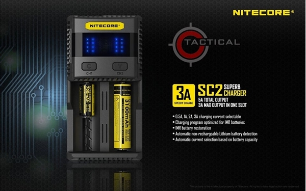 Picture of Ταχυφορτιστής Nitecore SC2 Charger
