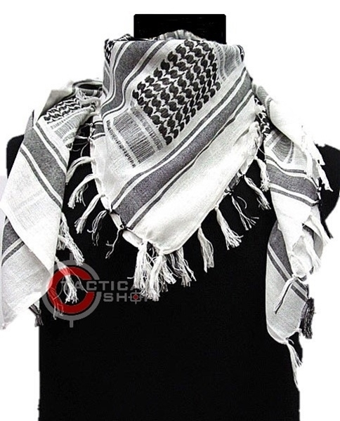 Picture of Κασκόλ Άσπρο-Μαύρο Mil-Tec Shemagh Scarf