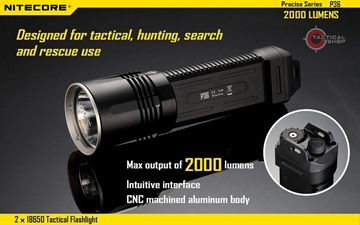 Εικόνα της Φακός Led Nitecore Precise Tactical P36 2000 Lumens