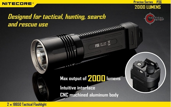 Picture of Φακός Led Nitecore Precise Tactical P36 2000 Lumens