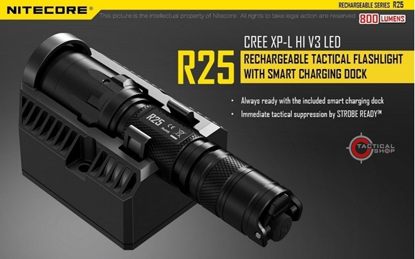 Picture of Επαναφορτιζόμενος Φακός Led Nitecore KIT R25 800 Lumens