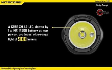 Εικόνα της Φακός Led Nitecore Explorer EA11 900 Lumens
