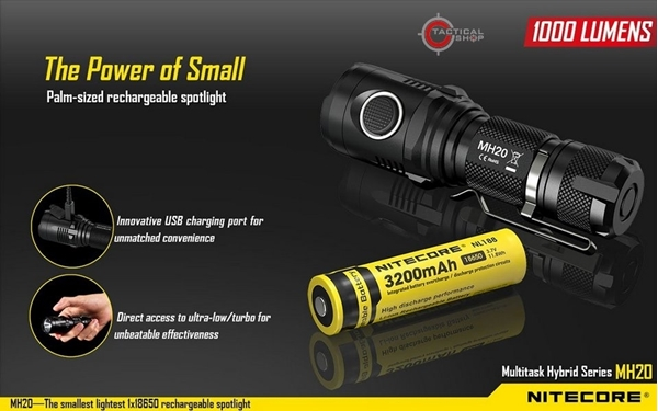 Picture of Επαναφορτιζόμενος Φακός Nitecore Multi Task Hybrid MH20 1000 lumens