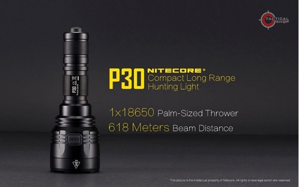 Picture of Φακός Led Nitecore Precise P30 Tactical 1000 Lumens