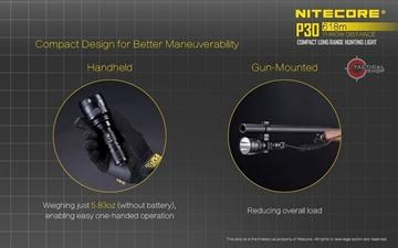 Εικόνα της Φακός Led Nitecore Precise P30 Tactical 1000 Lumens