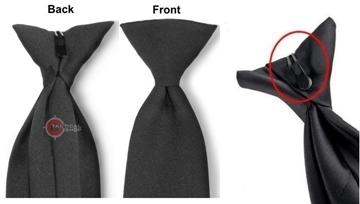Εικόνα της Γραβάτα με κλιπ μαύρη