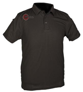 Εικόνα της Μπλουζάκι Polo Αντιιδρωτικό Mil-Tec Quick Dry Μαύρο