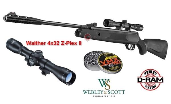 Picture of Αεροβόλο Gas Ram Webley & Scott Dram VMX + Διόπτρα Walther 4x32 Z-Plex II