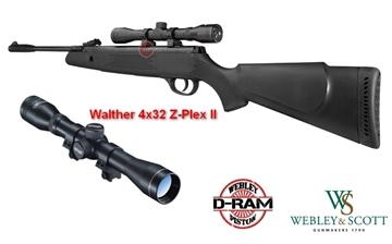 Εικόνα της Αεροβόλο Gas Ram Webley & Scott Dram VMX + Διόπτρα Walther 4x32 Z-Plex II