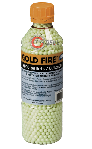 Picture of Μπίλιες ΑSG Gold Fire Airsoft 6mm 0,12γρ 3000pcs σε μπουκάλι