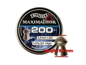 Εικόνα της Βλήματα Walther MaximaThor 5.5 mm