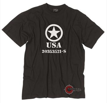 Εικόνα της Μπλούζα Mil-Tec T-shirt Allied Star Μαύρη