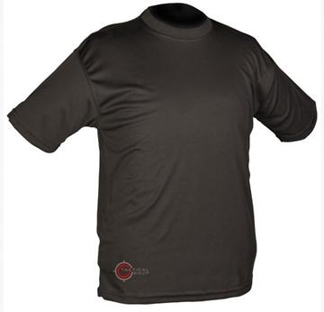 Εικόνα της Μπλουζάκι T-Shirt Αντιιδρωτικό Mil-Tec QuickDry Μαύρο