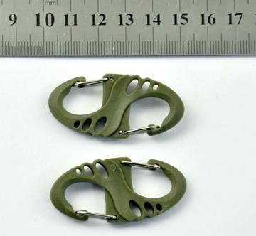 Εικόνα της Tactical Mini Carabiner S Type ABS Χακί