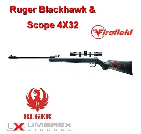 Picture of Αεροβόλο τουφέκι Ruger Blackhawk & Firefield 4Χ32 4,5 mm