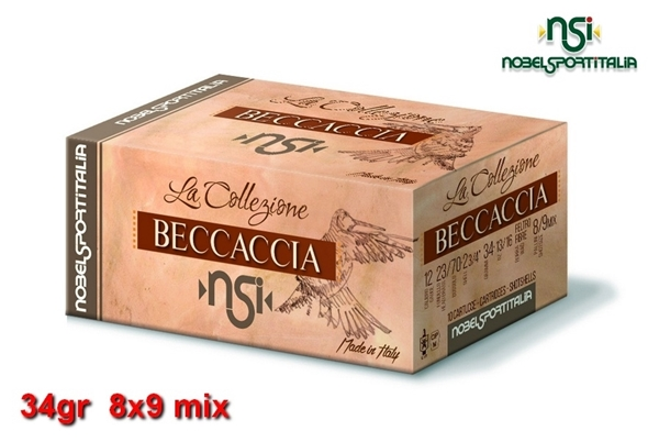 Picture of Φυσίγγια 34gr NSI Special Collection Beccaccia Μπεκάτσα 8x9 mix